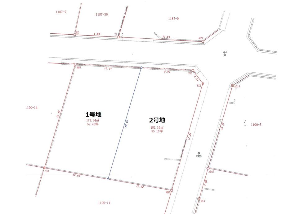 上松4丁目2区画分譲地 1号地