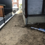 雨水管改修工事。