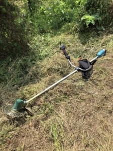 草刈り作業。