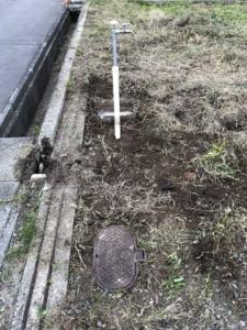仮設水道設置。