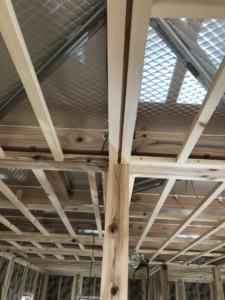 天井下地。